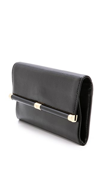 Diane von Furstenberg 440 Envelope Clutch with Lizard Embossing