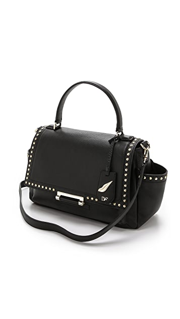 Diane von Furstenberg 440 Courier Faceted Stud Satchel
