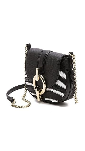 Diane von Furstenberg Sutra Mini Zebra Patchwork Bag