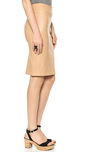 Diane von Furstenberg Panel Marta Leather Pencil Skirt