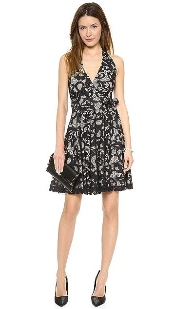 Diane von Furstenberg New Amelia Lace Halter Dress