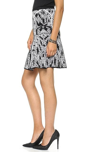Diane von Furstenberg Samara Panther Lace Skirt