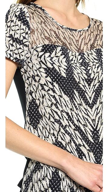 Diane von Furstenberg Angela Short Sleeve Top