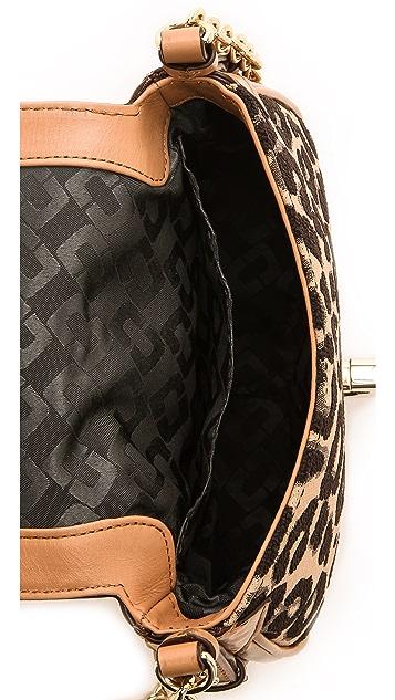 Diane von Furstenberg Sutra Mini Leopard Jacquard Cross Body Bag