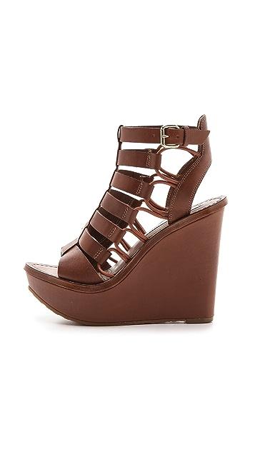 Diane von Furstenberg Lexington Wedge Sandals