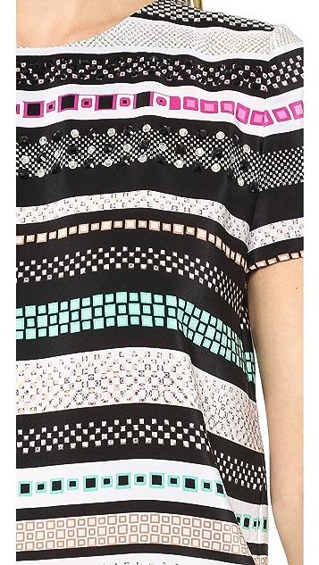Diane von Furstenberg Tori Embellished Top