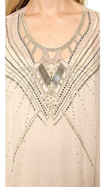 Diane von Furstenberg Clare Beaded Caftan Maxi Dress