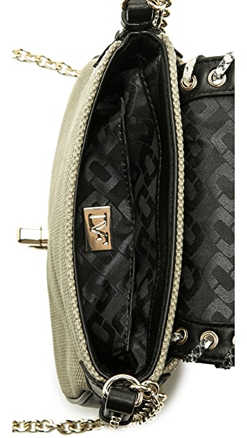 Diane von Furstenberg Sutra Mini Cross Body in Laced Canvas