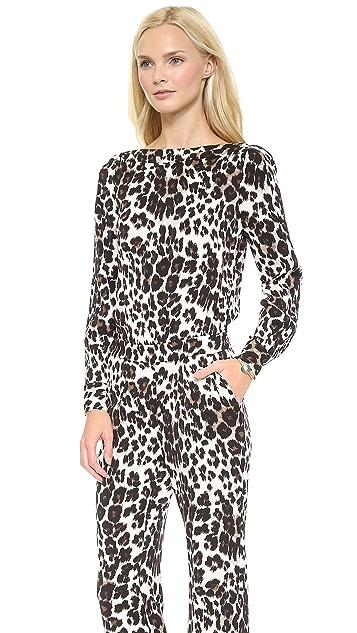 Diane von Furstenberg Cynthia Leopard Jumpsuit