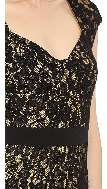 Diane von Furstenberg Sleeveless Lace Gown