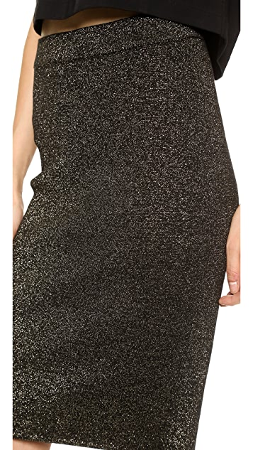 Diane von Furstenberg Metallic Pencil Skirt