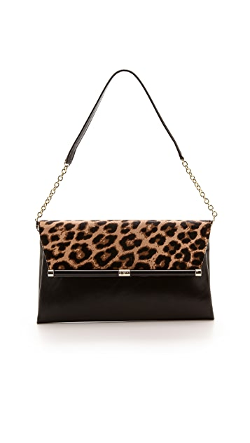 Diane von Furstenberg 440 Large Haircalf Clutch