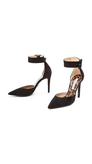 Diane von Furstenberg Buckie Ankle Pumps