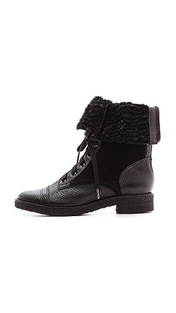 Diane von Furstenberg Alexia Too Combat Boots