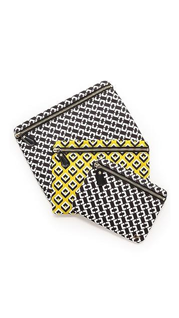 Diane von Furstenberg Heritage Print Trio Pouch Cosmetic Case