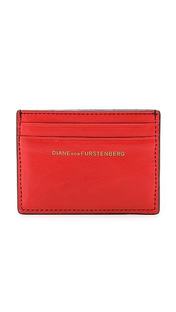 Diane von Furstenberg Flirty Tuxedo Card Case
