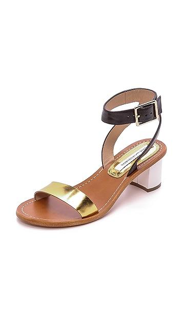 Diane von Furstenberg Босоножки Cami на квадратном каблуке