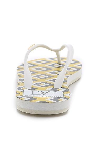 Diane von Furstenberg Gina Print Flip Flops
