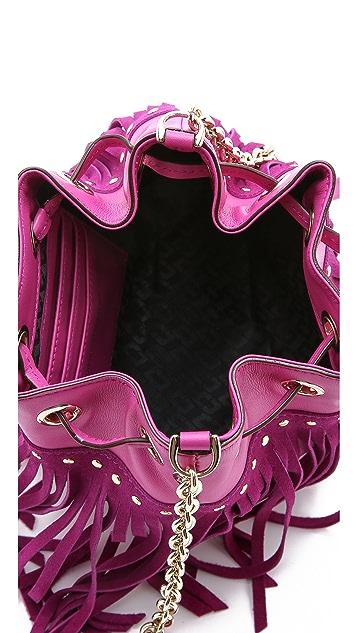 Diane von Furstenberg Disco Fringe Bucket Bag