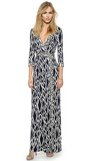 a1ba16d00b3 Diane von Furstenberg Banded Julian Long Dress | SHOPBOP