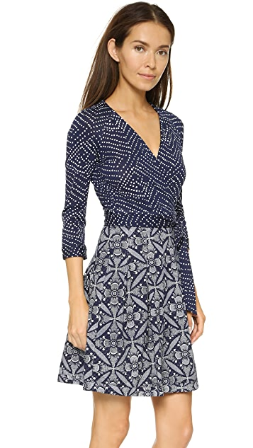 Diane von Furstenberg Jewel Wrap Dress