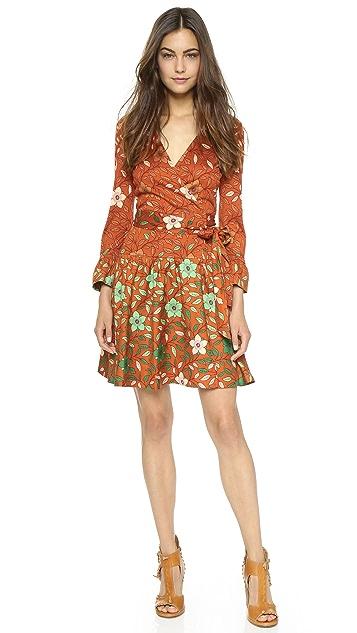 Diane von Furstenberg Sylvia Combo Wrap Dress