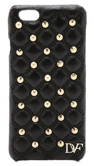 Diane von Furstenberg Leather Stud Quilted iPhone 6 / 6S Case