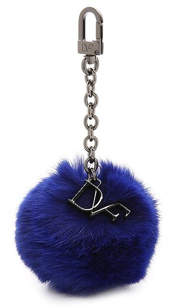 Diane von Furstenberg Fur Pom Pom Bag Charm