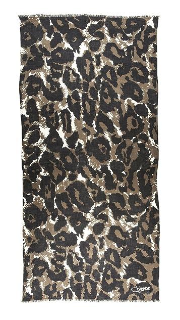 Diane von Furstenberg Leopard Kenley Scarf