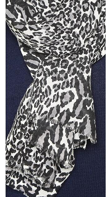 Diane von Furstenberg Snow Leopard Grace Scarf