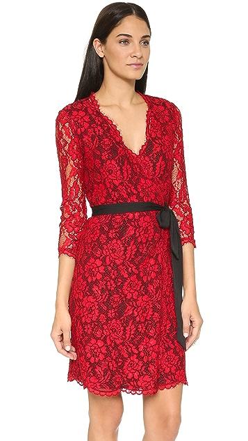 Diane von Furstenberg Julianna 3/4 Sleeve Dress
