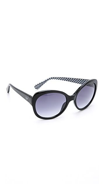 4772e290fdce3 Diane von Furstenberg Lila Sunglasses