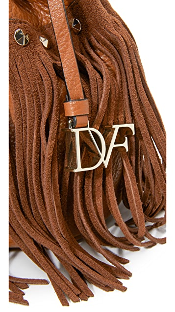Diane von Furstenberg Voyage Boho Fringe Bucket Bag