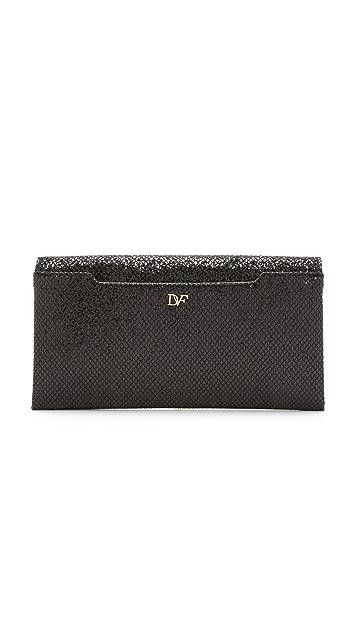 Diane von Furstenberg 440 Envelope Fishnet Glitter Clutch