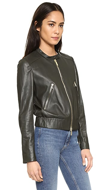 Diane von Furstenberg Buckley Leather Bomber