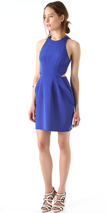 Dion Lee Silk Form External Pleat Dress