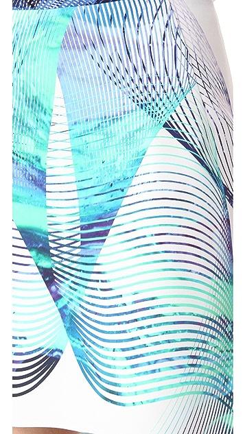 Dion Lee Linear Print Miniskirt