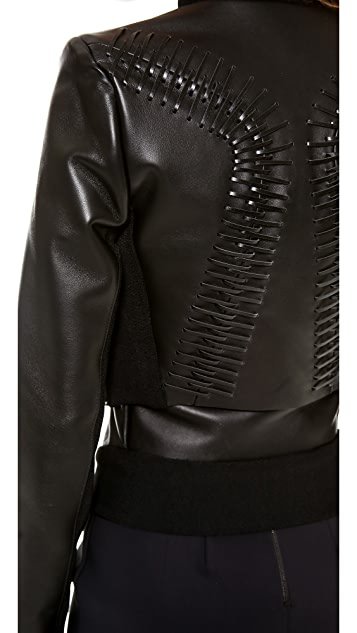Dion Lee Double Biker Jacket with Lacing