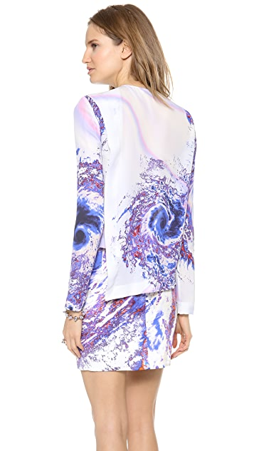 Dion Lee Split Sail Long Sleeve Top