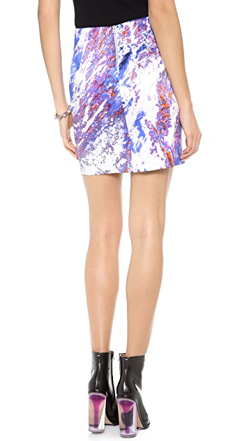 Dion Lee Printed Satin Skirt
