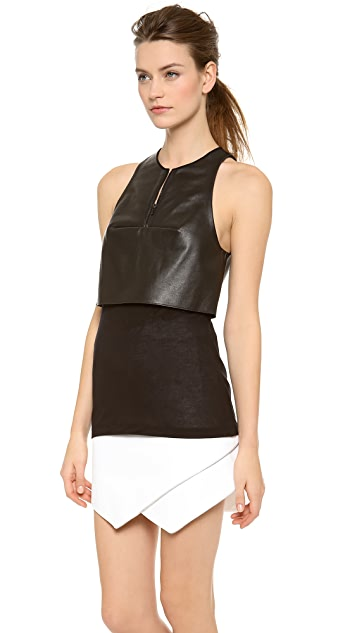 Dion Lee 3D Filter Leather Top