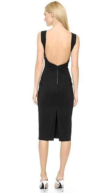 Dion Lee Slit Woven Backless Dress
