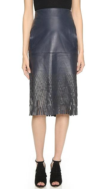 9258c5796c Dion Lee Die Cut Leather Skirt | SHOPBOP