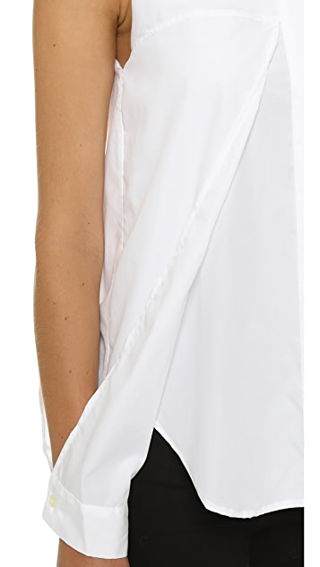 Dion Lee Line II Sleeve Release Cotton Shirt