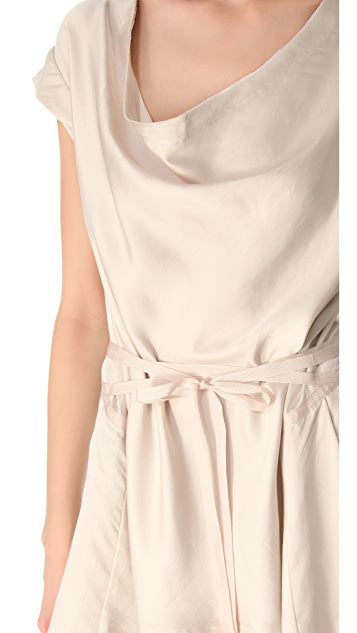 Donna Karan New York Draped Tie Top