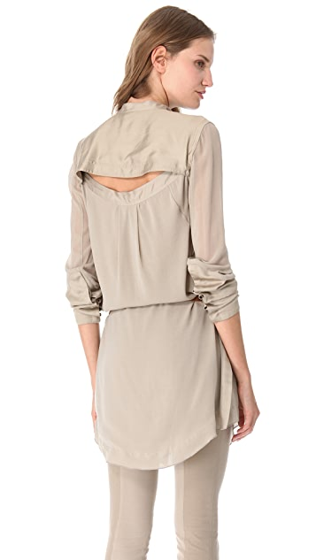 Donna Karan New York Back Slit Tuxedo Tunic