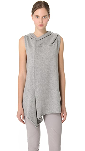 Donna Karan New York Sleeveless Hooded Tunic