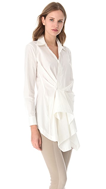 Donna Karan New York Side Draped Tunic Top