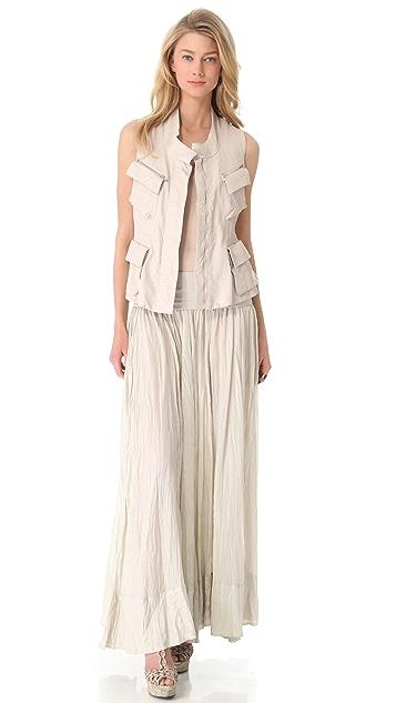 Donna Karan New York Drawstring Leather Vest