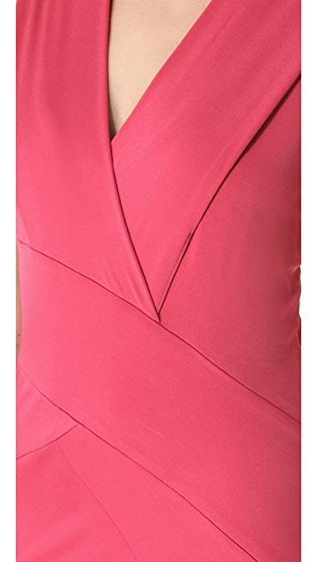 Donna Karan New York Banded Plunge V Dress